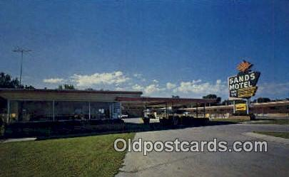 Sands Motel, Great Ben, KS, USA Motel Hotel Postcard Post Card Old Vintage An...