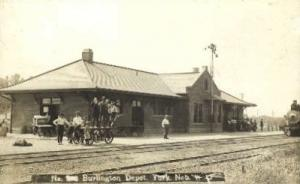 Real Photo,  Burlington Depot, York, Nebraska, NE, USA Railroad Train Depot P...