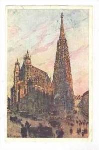Wien, Austria, PU 1911, art card  Stephansdom