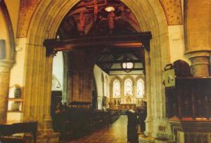 LIMITED EDITION Postcard FOLKESTONE Interior Parish Church St Mary St Eanswythe