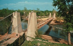 Vintage Postcard General Dean Suspension Carlyle's Bridge Southern Illinois ILL