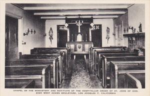Chapel Of Monastery St John Of God Los Angeles California Albertype