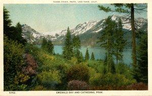 CA - Lake Tahoe. Emerald Bay and Cathedral Peak