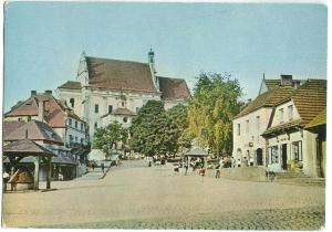 Poland, KAZIMIERZ DOLNY, Fragment Rynku, A view of the Market Square, Postcard