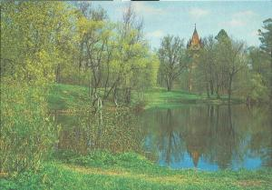 Russia, Town of Pushkin, The Alexander Park, and Chapel
