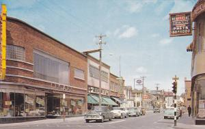 Main Street , Store Fronts , Jonquiere , Quebec , Canada , 50-60s