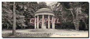 Old Postcard Large Format Versailles Palace Du Petit Temple From 39Amour & # ...