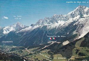 France Chamonix Mont Blanc Panorama Aiguille du Midi
