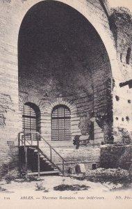 ARLES, Bouches-du-Rhone, France, 1900-1910s; Thermes Romains, Vue Interieure