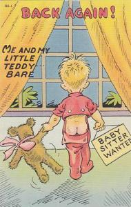 BACK AGAIN!, Me and my little teddy ... bare, Babysitter wanted, Boy exposing...