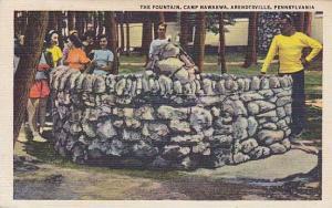 The Fountain, Camp Nawakwa, Arendtsville, Pennsylvania, PU_1948