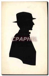 Postcard Old Man Against Light