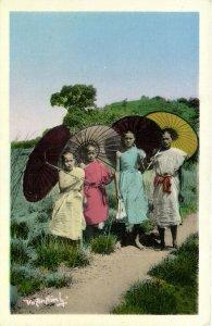 PC CPA LAOS, XIENG-KHOUANG, BONZES, Vintage Postcard (b26711)
