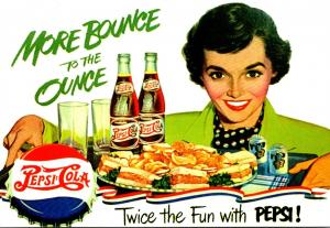 Advertising Pepsi Cola More Bounce To The Ounce