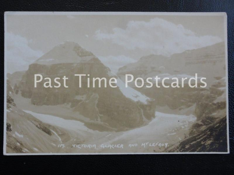 Old Glacier RPPC - Victoria Clacier and Mountt Lefroy - Canada