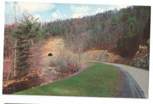 Highway 441 Smoky Mountains View of Tunnel Road Postcard TN