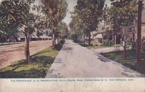 HOT SPRINGS, Arkansas 1901-1907; The Promenade, U.S. Reservation, Bath House Row