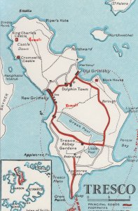 Isles Of Scilly Tresco Map PB Postcard