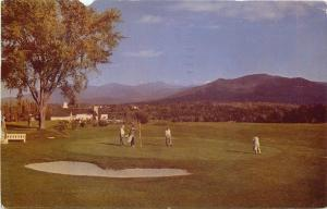 Whitefield New Hampshire~Mountain View House~Golf Course~Ninth Green~1950 PC