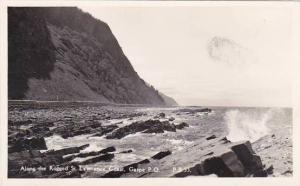 Canada Quebec Gaspe Along Rugged St Lawrence Coast Real Photo
