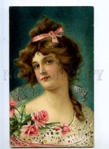 245472 Portrait of BELLE in ROSES tinted Vintage WHB PC