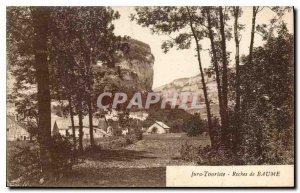 Old Postcard Jura Tourist Rocks Baume