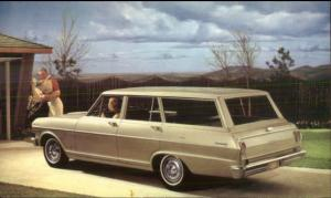 Chevy Chevrolet Vintage Promo Postcard 300 STATION WAGON Car
