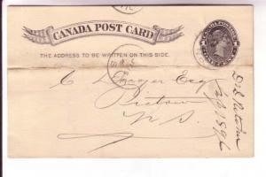 Canadian Postal Stationary, Victoria, 1 Cent Black, Newcastle, New Brunswick,...