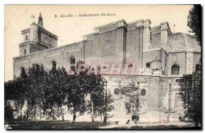 Postcard Old Alais Cathedrale St Jean