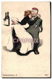 Old Postcard Fantasy Illustrator Studentenleben