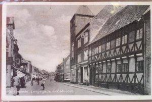 Vintage Postcard Street Scene of Langegade Museum in Kerteminde Denmark