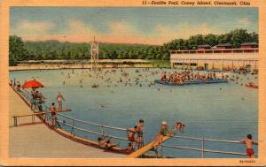 Ohio Cincinnati Sunlite Pool Coney Island Curteich