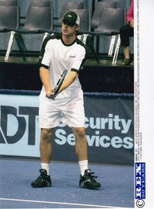 Andy Roddick Tennis Elton John Aids Foundation Charity Match Press Photo