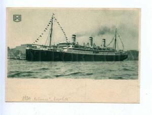 190917 HAMBURG-AMERIKA LINIE ship RELIANCE Vintage postcard