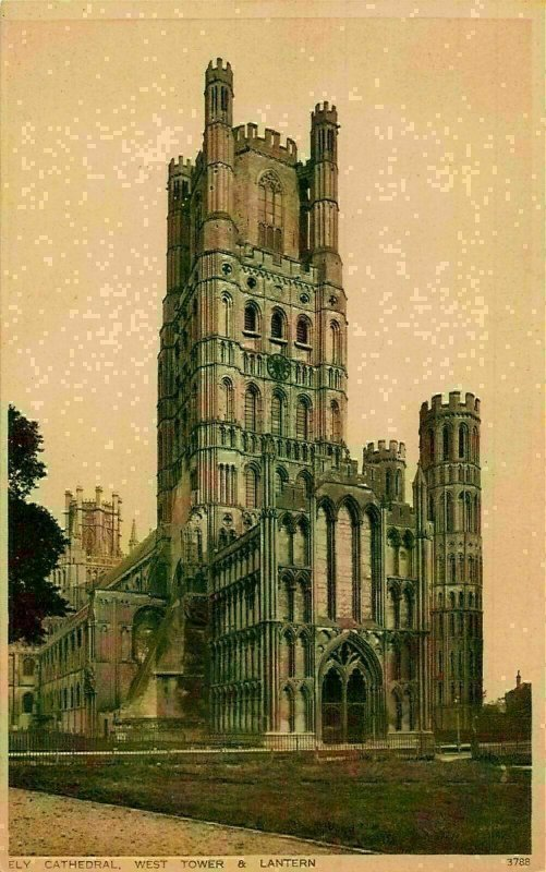 Ely Cathedral West Tower Lantern Postcard