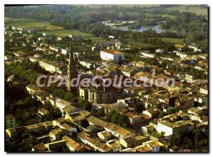 Postcard Old Mirepoix Central Air view