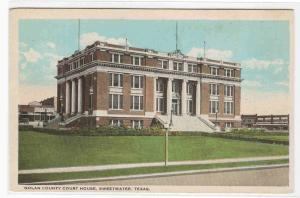 Court House Sweetwater Texas 1920s postcard