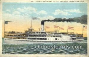 Steamer Greyhound, Toledo, Cedar point Steam Ship Postcard Post Cards  Greyho...