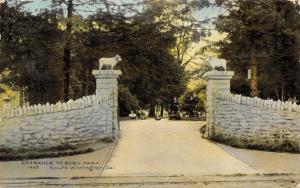 South Wilmington Delaware~Sheep Ram Pillars~Entrance Eden Park~1909 Postcard