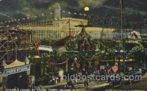 Steeplechase, Coney Island, NY USA Coney Island Amusement Park Postcard Post ...
