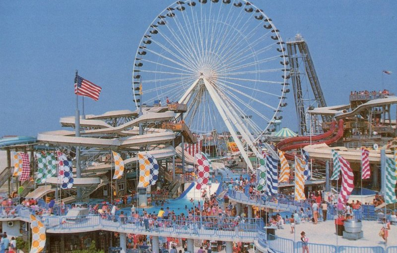 Raging Waters Theme Park New Jersey NJ USA Postcard