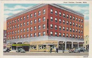 Hotel Owosso, Western Union, Owosso, Michigan, 1930-1940s