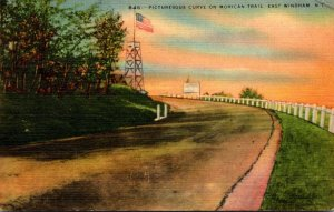 New York East Windham Picturesque Curve On Mohican Trail 1947