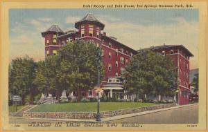 Hot Springs National Park, Ark., Hotel Moody and Bath House