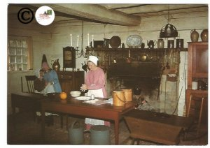 Vintage Postcard Inside of Tavern New Salem Illinois Historic Site