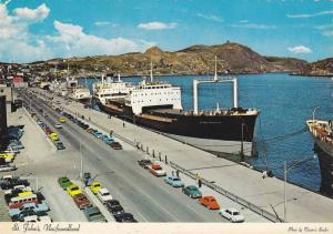Canadian and foreign ships, Cabot Tower on Signal Hill, St. John´s busy harb...