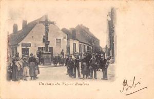 Roulers Belgium Town Square Street Scene Antique Postcard J48801
