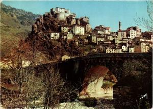 CPM CORSE- Corte- La Ville et son Vieux Pont sur le Tavignano. (711036)