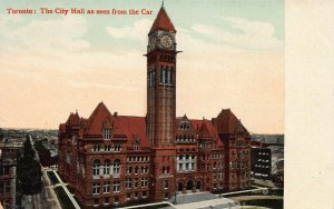 Toronto:  The City Hall as Seen from the Car, early postcard, unused
