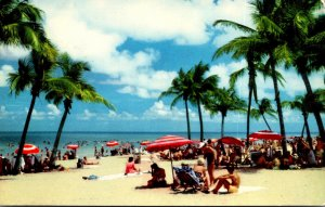 Florida Miami Beach Scene On The World Famous Beach